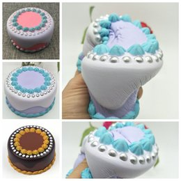 Wholesale Novelty Gift Packaging - Pearl Cake Slow Rising Squishy Jumbo Original Packaging Gift Decor Toy Slow Rising Collection Novelty Items 12CM FFA147 20PCS