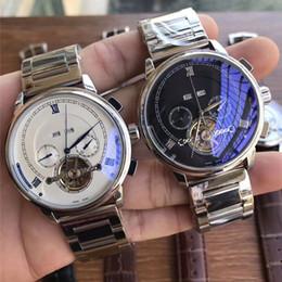 reloj de lujo para hombre sub Rebajas Reloj masculino caliente Calidad todos los sub-diales funcionan para hombre relojes de lujo Top Brand volante mecánico automático relojes de pulsera para hombres Relogio