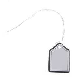 Wholesale Jewelry String Tags Wholesale - 5) 500pcs Price tags with strings Hanging Rings Jewelry Sale Display - White and Silver