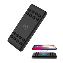 Wholesale External Battery Charger Note - 8000mAh Ultra Slim Power Bank . External Charger Battery Bank with Sucker. for iPhoneX 8 8 Plus,Samsung S8 S7 S6 Note 5 8 etc (Black)