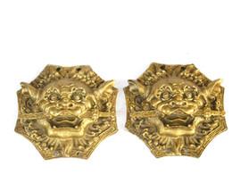Wholesale carved doors - Bronze door lion bite sword gossip mirror tiger head animal head town house feng shui ornaments