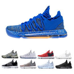 Kevin durant scarpe usa online-Nuovo Zoom KD 10 Anniversary University Rosso Ancora Kevin Igloo BETRUE Oreo Uomo Scarpe da basket USA Kevin Durant Elite KD10 Sport Sneakers KDX