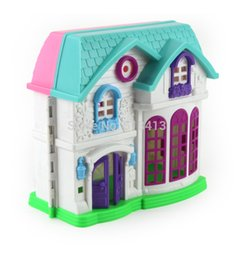 Wholesale happy houses - Play house toys our happy family theme villa house toys suit girl child doll