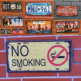 Wholesale Big Toy Garage - 40 Styles Retro License Plate Metal different themes beer garage warning Motor Vintage Craft Tin Sign Retro Metal Painting Poster Bar Pub