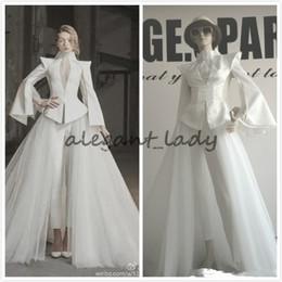 8bde631467f designs unique evening gowns Coupons - Long Sleeve Suit Pants High Neck Unique  Design Luxury Evening