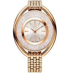 Wholesale Rose Girl New - Ultra brand rose gold woman diamond Swa watches 2018 brand luxury nurse ladies dresses female Jewelry buckle wristwatch gifts for girls