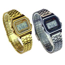 Assistir a159w on-line-Venda quente Multifuncional WR F91W Moda Relógios pulseira de metal LED Mudança de Relógio Esporte A159W Relógio Para O Estudante Crianças 200 pcs