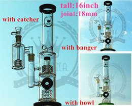 Wholesale oil daily - glass factory Glass Water Bongs with Honeycomb Perc Oil Rigs Daily Dab Rigs Tornado Disc Perc Blue Green Colors Glass Pipes Quartz Banger