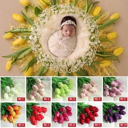 Jane Z Ann Tulip Simulation Baby Photo Props Creative Infant Photography Props Newborn Studio Shooting Accessories Accessories Hats & Caps