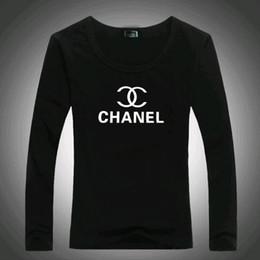 16a2a365ce9b4f X Freies Verschiffen 2019 Herbst und Winter neue Buchstaben casual runden  Kragen Langarm Top-Marke Frauen T-Shirt mit einem unteren Hemd rabatt top-t- shirt
