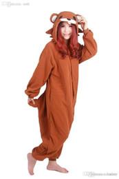 fa5a1dc31 Al por mayor-Oso Marrón Kigurumi Pijamas Anime Cosplay Unisex Adultos Onesie  Sleepwear