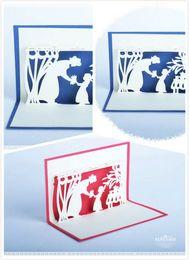 cumprimentos do dia de mães Desconto Novo Design Dia das Mães 3D Criativo Handmade Saudações Cartões de Ação de Graças Cartões de Férias Pode Ser Personalizado 10 * 15 cm