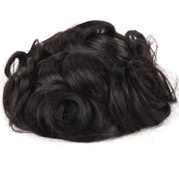 cheveux poly Promotion Stock Toupee de cheveux humains hommes cheveux humains indien remy cheveux monofilament poly enduit classique kinky hommes toupet TS-1