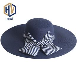 2018 Top Dropshipping Fashion Elegant Women Hat Female Big Wide Brim Summer Hat  Sun Shade Visor Floppy Beach Straw Hats NS40-A 9d312b4be52