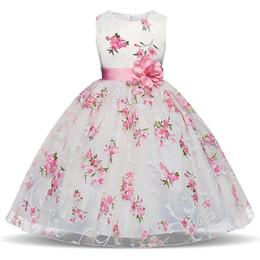 Elegantes niñas vestidos de fiesta online-Verano 2018 Elegante Princesa Vestido Formal Niños Bebé Escuela Noche Fiesta de Baile Pag. Pequeña Dama de honor Vestido de niña de flores Edad 10 Y1891203