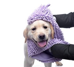 toalha de fibra Desconto S / M / L Cão Gato Banho Pet Toalha Super Absorvente Toalha de Secagem Rápida Extra Grande Fibra De Chenille