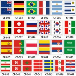 Argentina 2018 Copa Mundial 3 Hojas Bandera Nacional Etiqueta Engomada del Tatuaje Temporal Brasil Rusia Bandera Juego de Fútbol Cuerpo Cara Tatuaje Suministro