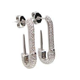 Gli orecchini superiori di sicurezza di sicurezza dei gioielli dell'orecchio di modo di colore dell'oro di Rosa per le donne Steampunk dell'orecchino delle viti prigioniere dell'orecchino delle viti prigioniere modellano i regali Trasporto libero da spilla di sicurezza fornitori