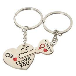 2019 liebe paar schlüsselketten 1 Paar Creative Zinc Alloy Keychain