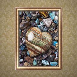 tatuaggi dipinti Sconti Cuore Pietra DIY 5D Rotonda Strass Ricamo Pittura Diamante Punto Croce Kit Disegno A Mosaico Decorazione Della Casa Trapano Completo