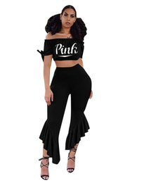 ... Flares 2 Pieces Set Outfit Sexy Belt-Bottom Wide-Leg Trousers Pants  Strapless Crop Top Trendy Suit Tracksuit New cheap sexy girls sleeveless  suits 6f4c65518