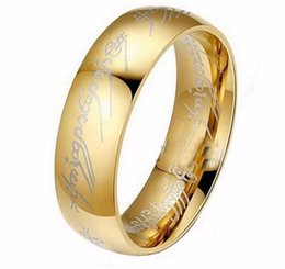 Wholesale platinum rings for women - Classic popular simple The Lord of the Rings platinum plated European and American style 6mm lovers women wedding rings for girlfriend gift