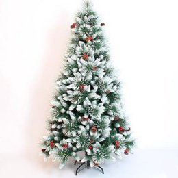 needle tree Promo Codes - 1.8M   180CM Modified Pine Needle Mixed Snow Christmas Tree Christmas Hotel Shopping Arcade Decoration Decoration