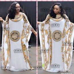 Canada 2018 (L-XXXL) Nouvelle Mode en Mousseline de Soie Super Taille Africaine Longue Lâche Dashiki Robe de Fête Traditionnelle Pour Dame Offre