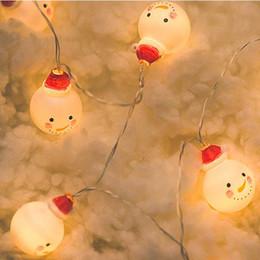 tops de mesa de escritório Desconto 1 m 10 Levou Boneco de Neve Corda Luz Decorações De Natal para Casa Novo Ano Navidad Xmas Decoração Da Árvore de Natal Luzes Do Partido. J