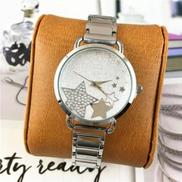 Wholesale Michael Watch Women - Fashion Watches Michael Quartz Watches Casual Steel Strap Dial Luxury Dial Women Bling Star Crystal Diamonds Rose Gold Free shipping