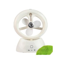 Wholesale Water Spray Cooling Fan - New Humidifier Mini Misting Fan Mist Diffuser Rechargeable Cooling Water Spray 18mar2 Dropshipping