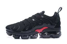 Wholesale B 52 - Cheap 2018 New Vapormax TN Plus 52 VM Olive In Metallic White Blue Shoes Men Shoes For Running Male Shoe Pack Triple Black Mens Shoes 40-45