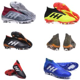 Wholesale fall kid - Original 2018 V SX Neymar soccer Shoes Predator 18+x Pogba FG Accelerator DB Kids Men Mercurial Superfly FG football Cleats Real Madrid