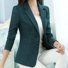Die neue hochwertige Herbst Frühling Damen Blazer Elegante Mode Dame Blazer  Mantel Anzüge weibliche große S-5XL Code Jacke Anzug T956 günstig frauen s  ... 25ad25a9cc