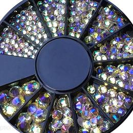 2019 cristallo rotondo di 2mm 1.5mm 2mm 3mm 4mm Rotonda AB Shinny Pietra Cristalli Nail Rhinestones Nail Design 3D Punte di Fascino Gemma Accessorio ,, cristallo rotondo di 2mm economici