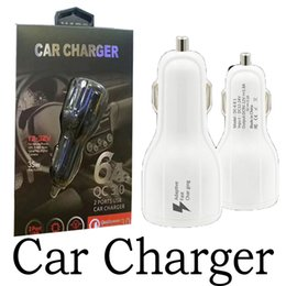 Wholesale Usb Cable Car - Top Quality QC3.0 fast charge 3.1A Qualcomm Quick Charge car charger Dual USB Fast Charging phone charger + Cable