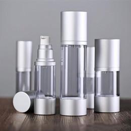 Prata garrafa airless on-line-30 ml 50 ml Vazio Frasco de Perfume Sem Fio Frascos De Vácuo Cosméticos Garrafa De Bomba De Prata Garrafa De Emulsão Essência GBN-061