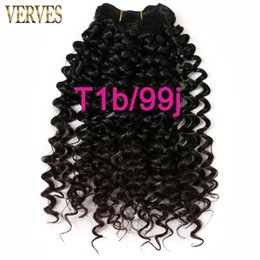 Wholesale kanekalon weaving hair - VERVES 1 pack hair synthetic weaving 65g pack curly Braid kanekalon ombre braiding hair weft extensions blonde,brown