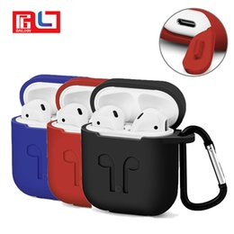 Wholesale ear silicone case - Silicone For Apple Airpods Proof Protector Cover Pouch Anti Lost Case Wireless Earphone Accessories With the Opp Package
