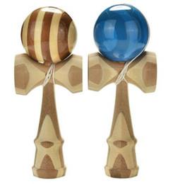 Kendama de bambú profesional de juguete Kendama de bambú hábil malabarismo juguete de la bola para niños adultos colores aleatorios juguete de navidad desde fabricantes