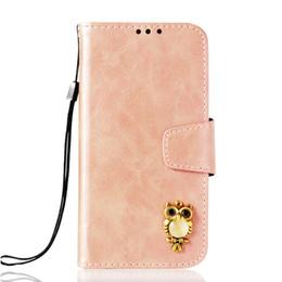 Búho billetera samsung online-Cajas de la cartera de la PU para Samsung Galaxy A7 A6 2018 Nota9 J7 A9 Star Lite Diseño del búho Kickstand Flip Funda con bolsillo
