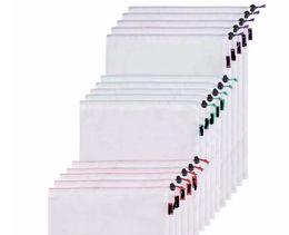 Sacs réutilisables de produit de 300pcs 5pcs / set sacs noirs de corde de maille de fruits jouets végétaux de stockage de maille met en sac la poche écologique lavable lin4079 ? partir de fabricateur