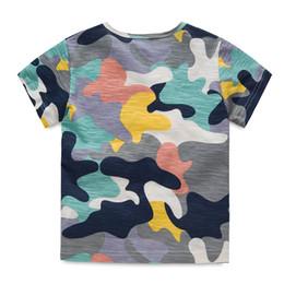 Ropa de camuflaje para los niños online-Camiseta Niños Niños Camuflaje Camiseta de verano Niños Verano O-cuello de manga corta Camisa de niño Ropa casual