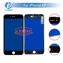Wholesale cheap phones free shipping - Bezel Touch Screen Frame for iPhone 6 plus Touch screen LCDFront Touch Panel Glass Lens Cheap Phone Accessories+ Free DHL Shipping