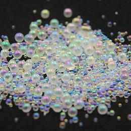 Deutschland 10g / Jar Mini Blase Nagel Perlen 0,8 mm, 1 mm, 1,2 mm, 1,5 mm Mixed Tiny Ball Perlen für Epoxidharz Formen Nail Art Glas supplier glass bubble bead Versorgung