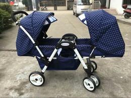 Carrinhos leves dobrados on-line-Carrinho de bebê carrinho de alta paisagem face a face pode sentar-se deitado leve dobrável gêmeos de alta qualidade