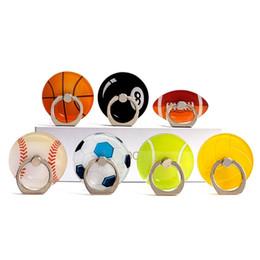 Anillos de hebillas online-Soporte del teléfono móvil del balompié del anillo de la hebilla del soporte del baloncesto de la historieta 3D universal montaje del dedo agarre para Samsung S8 S9 Nota 8 iPhone X 8 7