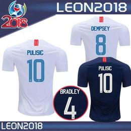 Wholesale United Soccer Shirt - Thai quality 2018 2019 USA PULISIC Soccer Jersey 18 19 DEMPSEY BRADLEY ALTIDORE WOOD America Football jerseys United States Shirt