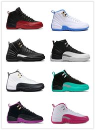 Wholesale Brand Sports Shoes China - Air retro 12 Women basketball shoes China Shoes On Sale Athletic Sport Shoes Womens Fashion Brand Sneaker the master Valentines day playoffs
