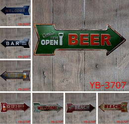 2019 segni di birra garage Caffè Birra Garage Cupcake Uscita Vintage Arrow Irregolare Targa in metallo Regalo artigianale Placca da muro Cafe Supermercato Decor segni di birra garage economici